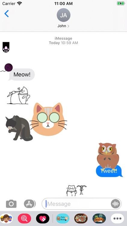MNSU Cat And Bird Stickers