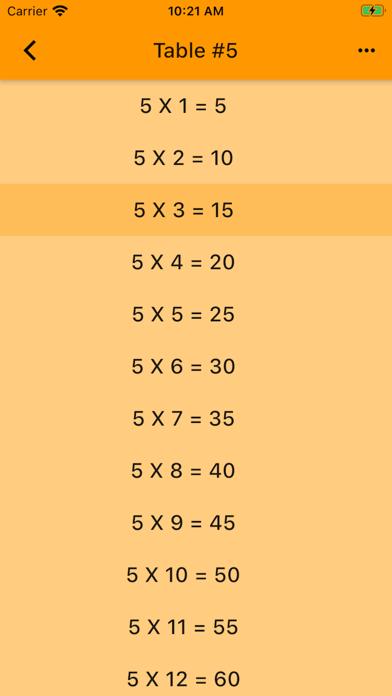 Audible Math Tables Pro screenshot 7