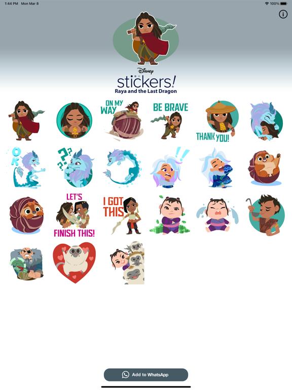 Disney Stickers: Raya screenshot 5
