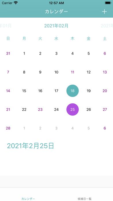 候補日ピッカー screenshot 1