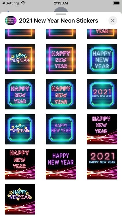 2021 New Year Neon Stickers screenshot-7