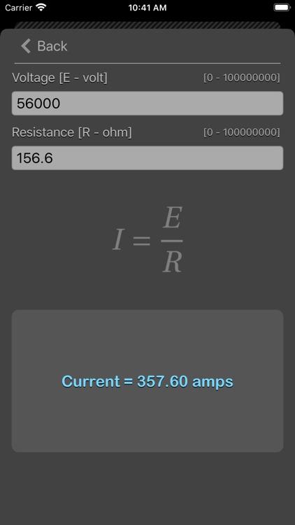 Ohm Law Calculator screenshot-8