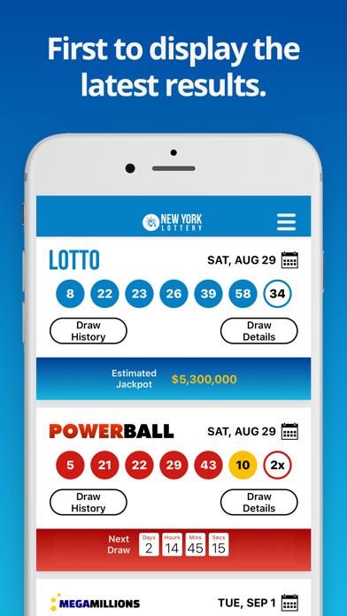 NY Lotto Results screenshot one