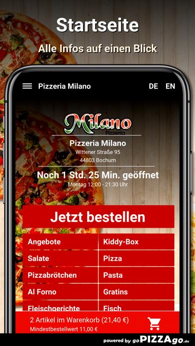 Pizzeria Milano Bochum screenshot 2