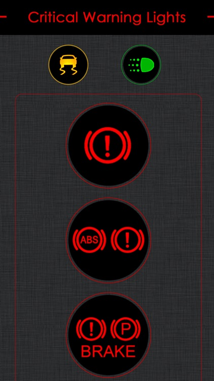 Toyota Warning Lights Meaning