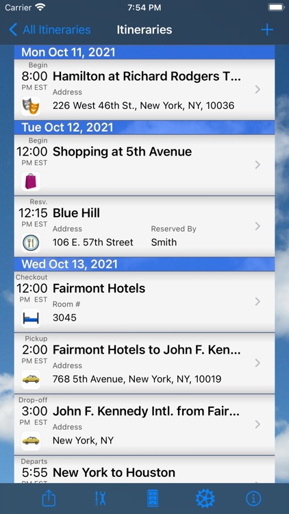Trip Boss Itinerary manager