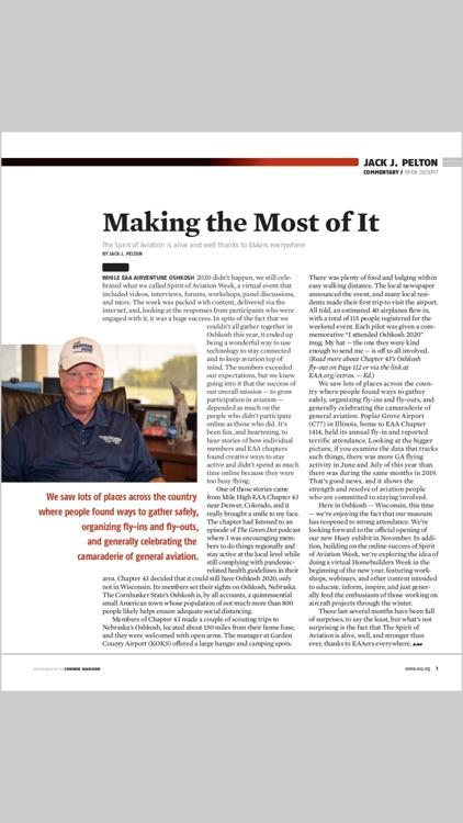 EAA Sport Aviation Magazine screenshot-4