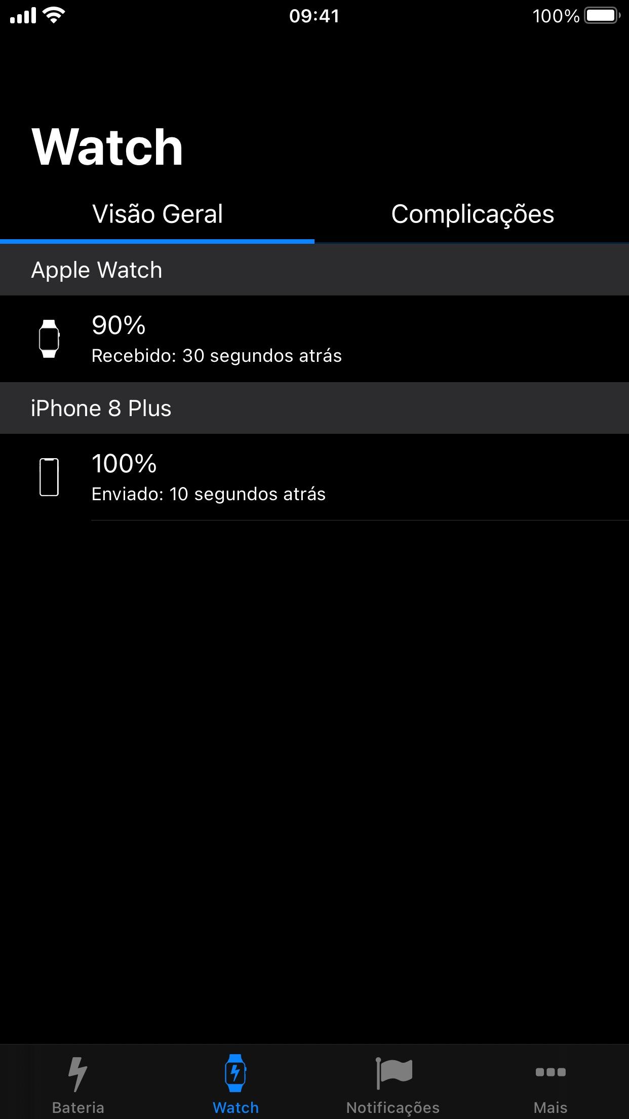 Screenshot do app Battery Life
