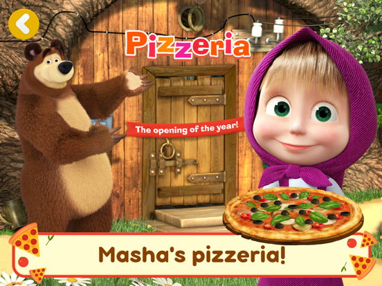 Ipad Screen Shot Masha and the Bear Pizzeria! 0