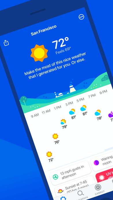 CARROT Weather Screenshots