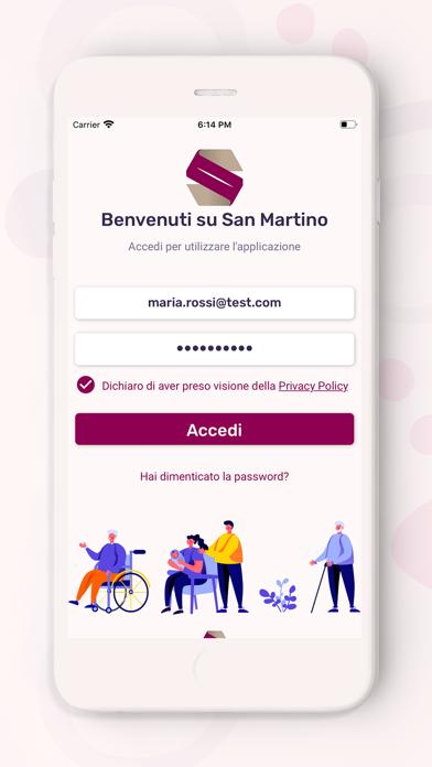 Screenshot of San Martino App1