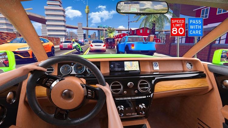 City Car Driving School Sim 3D screenshot-0