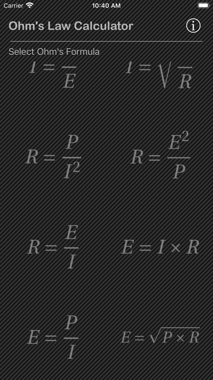 Ohm Law Calculator