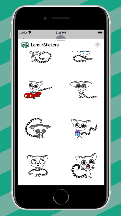 Cute Lemur Stickers Screenshot