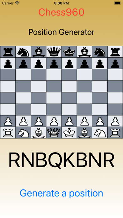 Chess960 - Generate Position screenshot 1