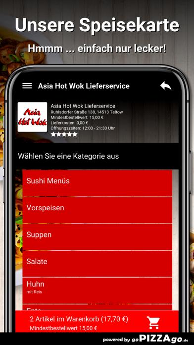 Asia Hot Wok Teltow screenshot 4
