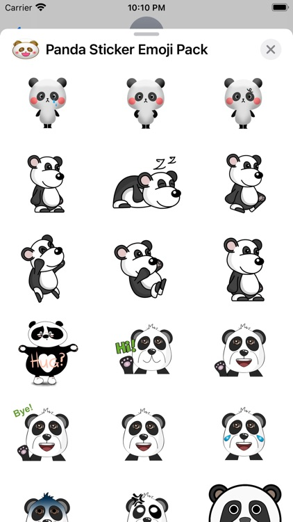 Panda Sticker Emoji Pack