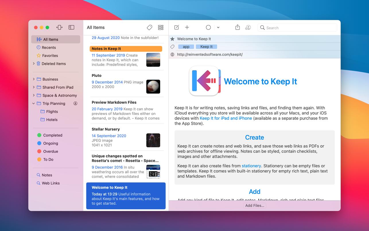 Keep It 1.10.14 Mac 破解版 优秀的文本笔记工具