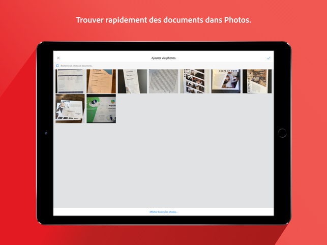‎Adobe Scan, scanner OCR de PDF Capture d'écran