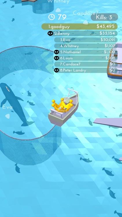 Fishingnet 3D: Battle io game screenshot-0