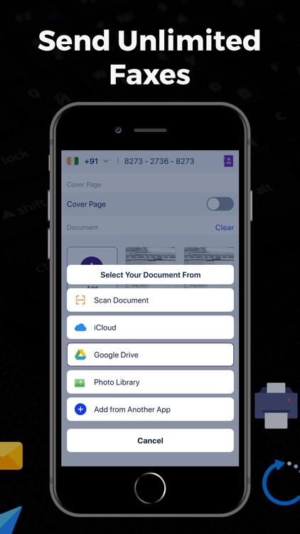 Fax + Send Fax from iPhone screenshot-4