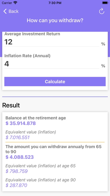 Retirement Calculator - Calc