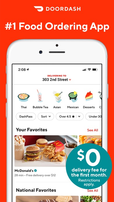 DoorDash - Food Delivery Screenshot on iOS