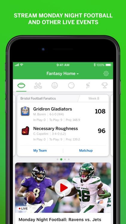 ESPN Fantasy Sports & More screenshot-3