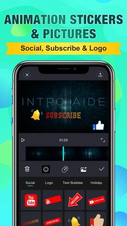 Intro Aide: Outro Video Maker screenshot-4