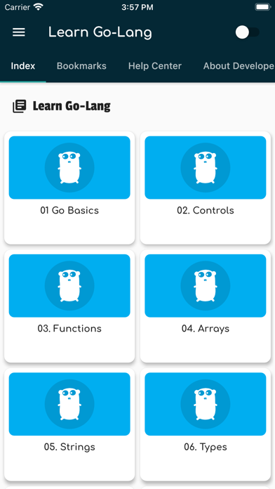 Learn Go Lang, Go Tutorials Screenshot