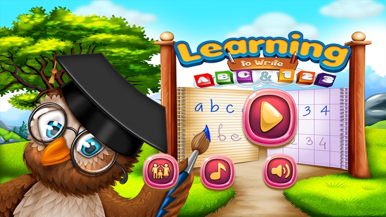 Learning to Write ABC and 123