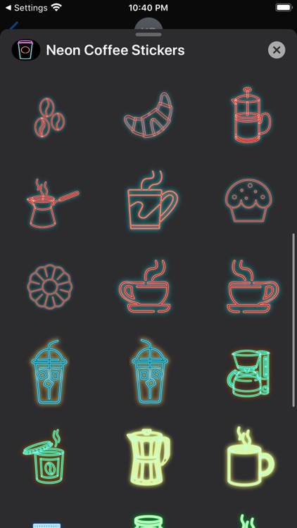 Neon Coffee Stickers