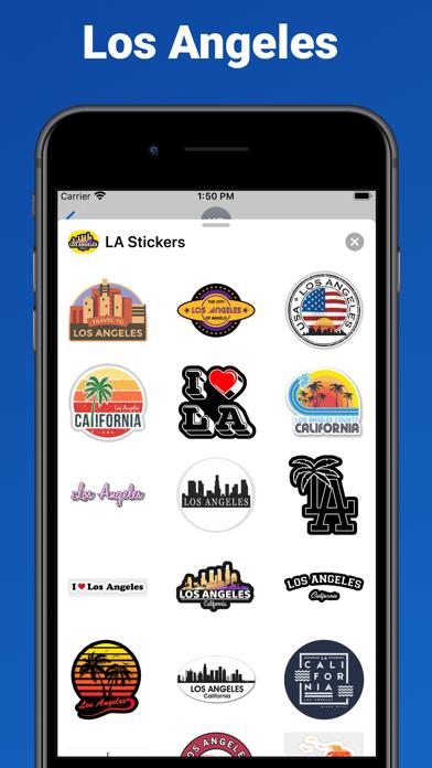 Los Angeles city USA stickers screenshot 1