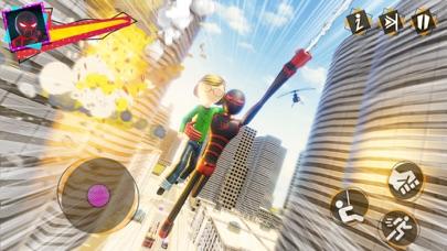 Stick Spider Crime City Rescue Screenshot on iOS