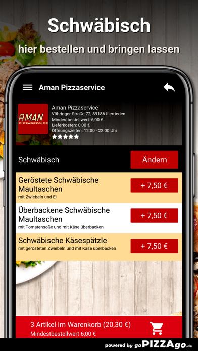 Aman Pizzaservice Illerrieden screenshot 6