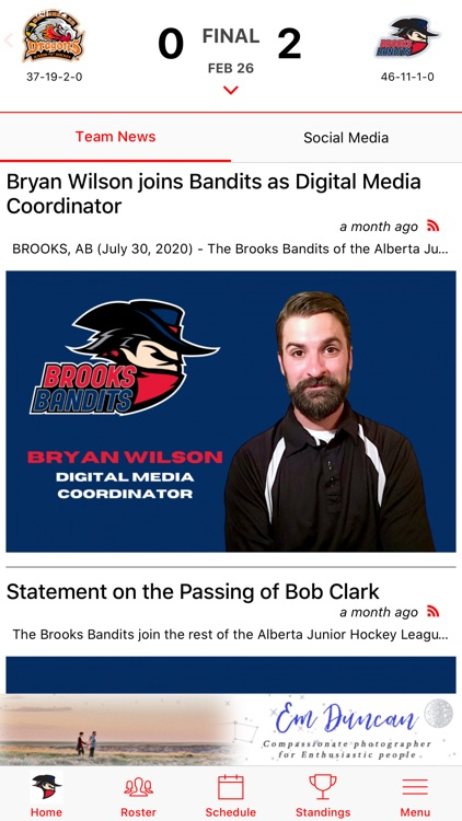 Brooks Bandits Official App