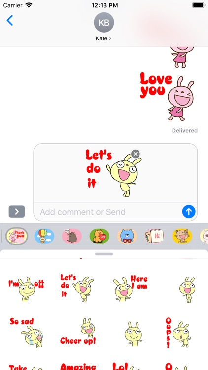 Rabbit Stickers for iMessage