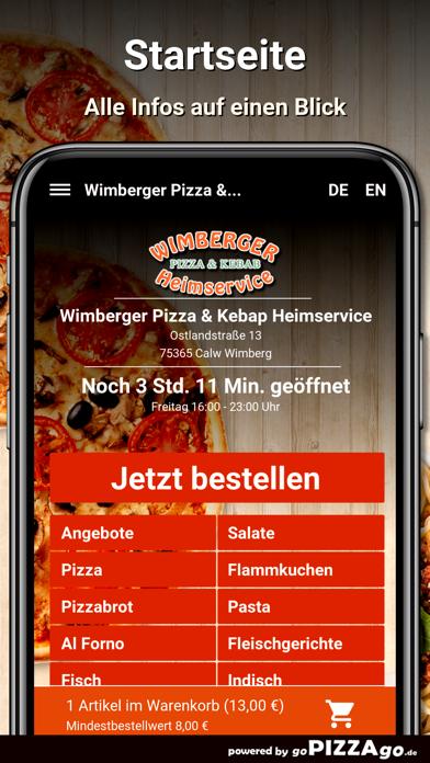 Wimberger Pizza Calw Wimberg screenshot 2