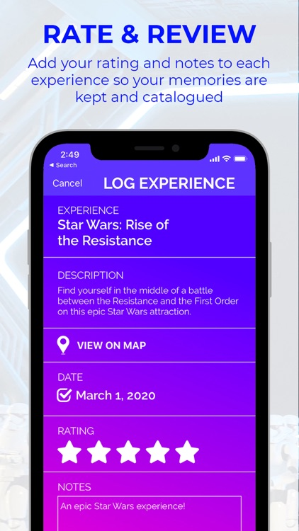 FlyList - Tracking for Disney