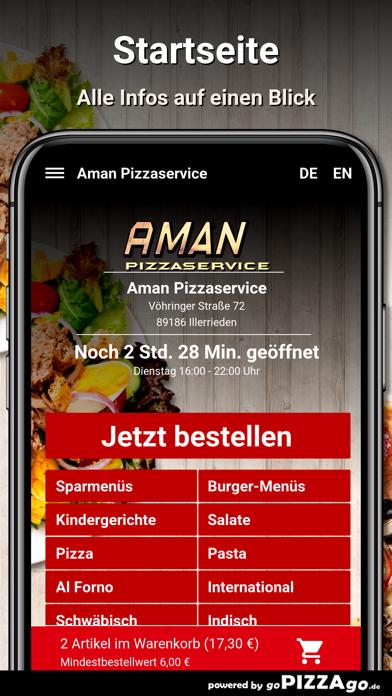Aman Pizzaservice Illerrieden screenshot 2