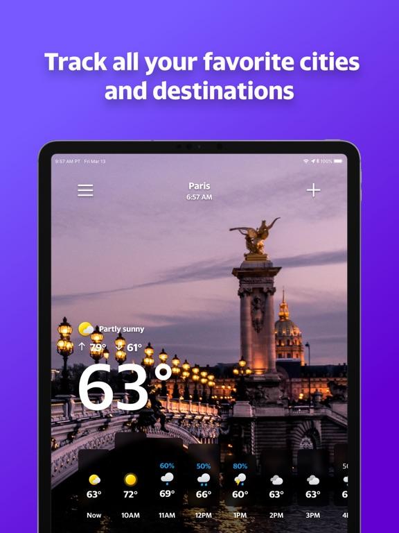 Screenshots for Yahoo Weather for iOS
