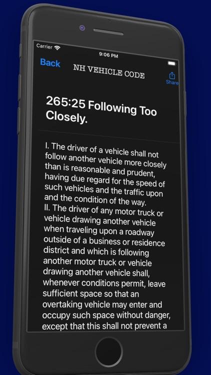 NH Criminal & Vehicle Code