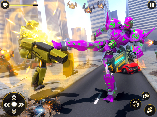 BMX Cycle Robot War Games 2021, game for IOS