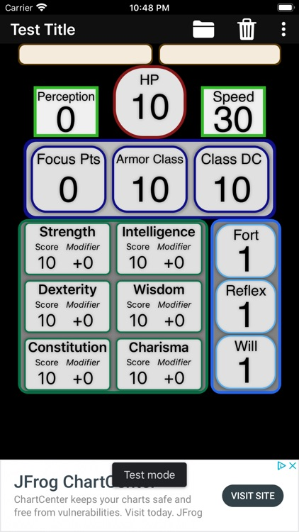 Second Edition Character Sheet