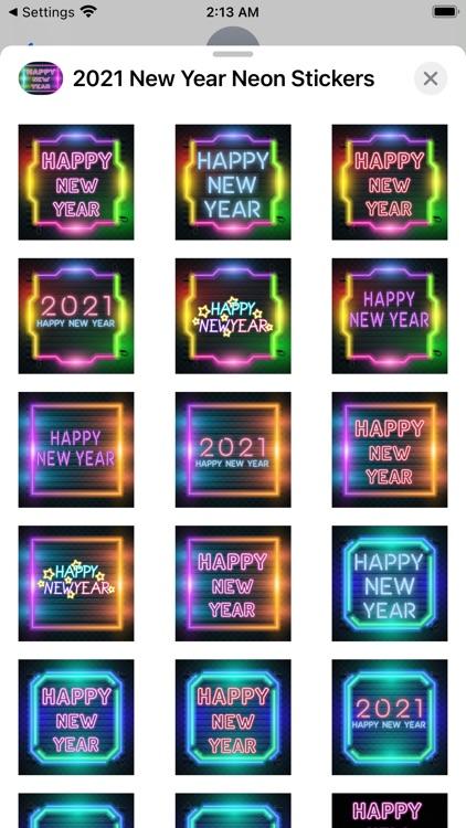 2021 New Year Neon Stickers screenshot-6