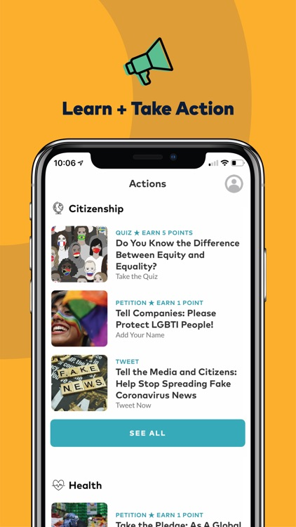 Global Citizen: Take Action