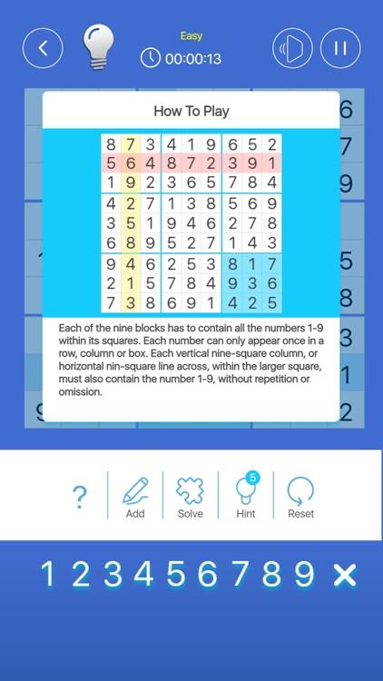 Simple Sudoku Puzzle Game screenshot-5