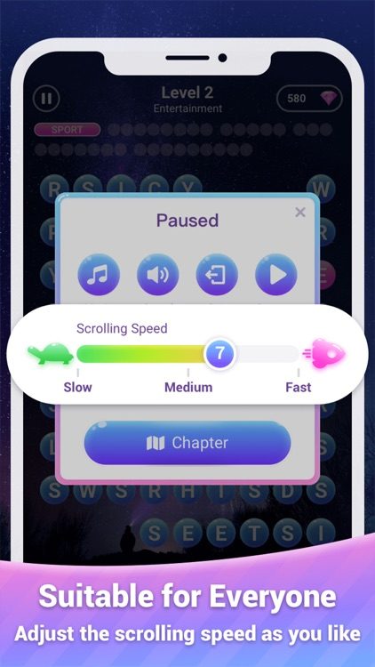 Scrolling Words Bubble screenshot-4