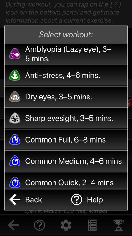 Eye-Fit Workouts: 100% vision screenshot-5