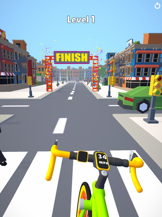 Bicycle Rider 3D, game for IOS